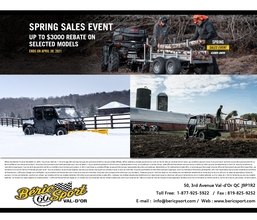 Spring Sales Event Can-Am