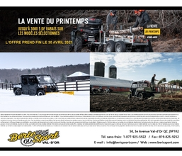 La Vente du Printemps Can-Am